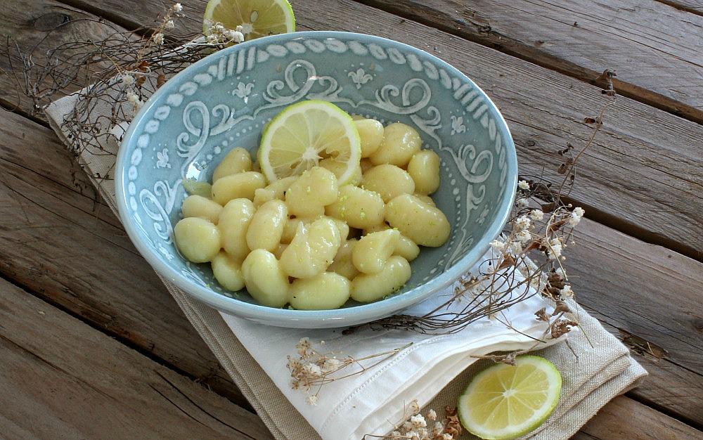 Gnocchi con crema al limone